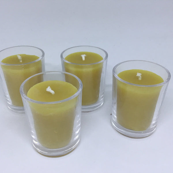 Bees Wax Votives in Glass - Hikari Candles