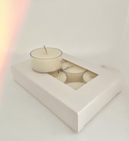 Tea Lights Soy Unscented - Hikari Candles