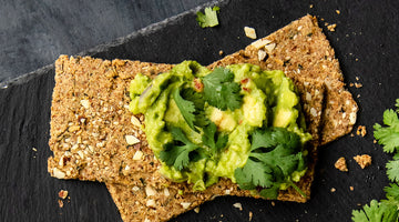 Avocado Cauliflower Cracker Toast