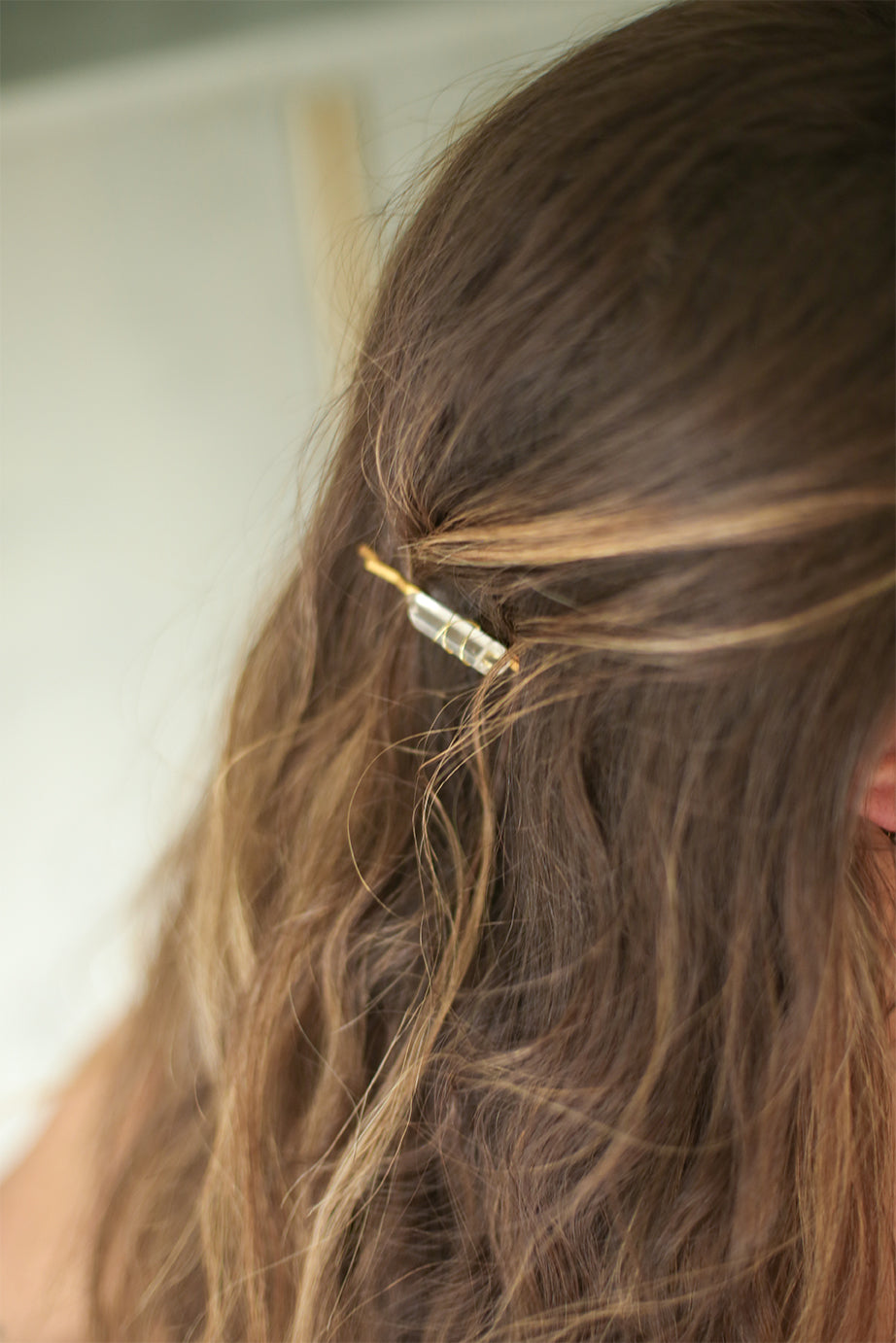 Quartz Crystal Bobby Pins