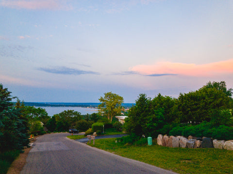 Downtown Traverse City from the top of Wayne Hill | Traverse City Run Co.