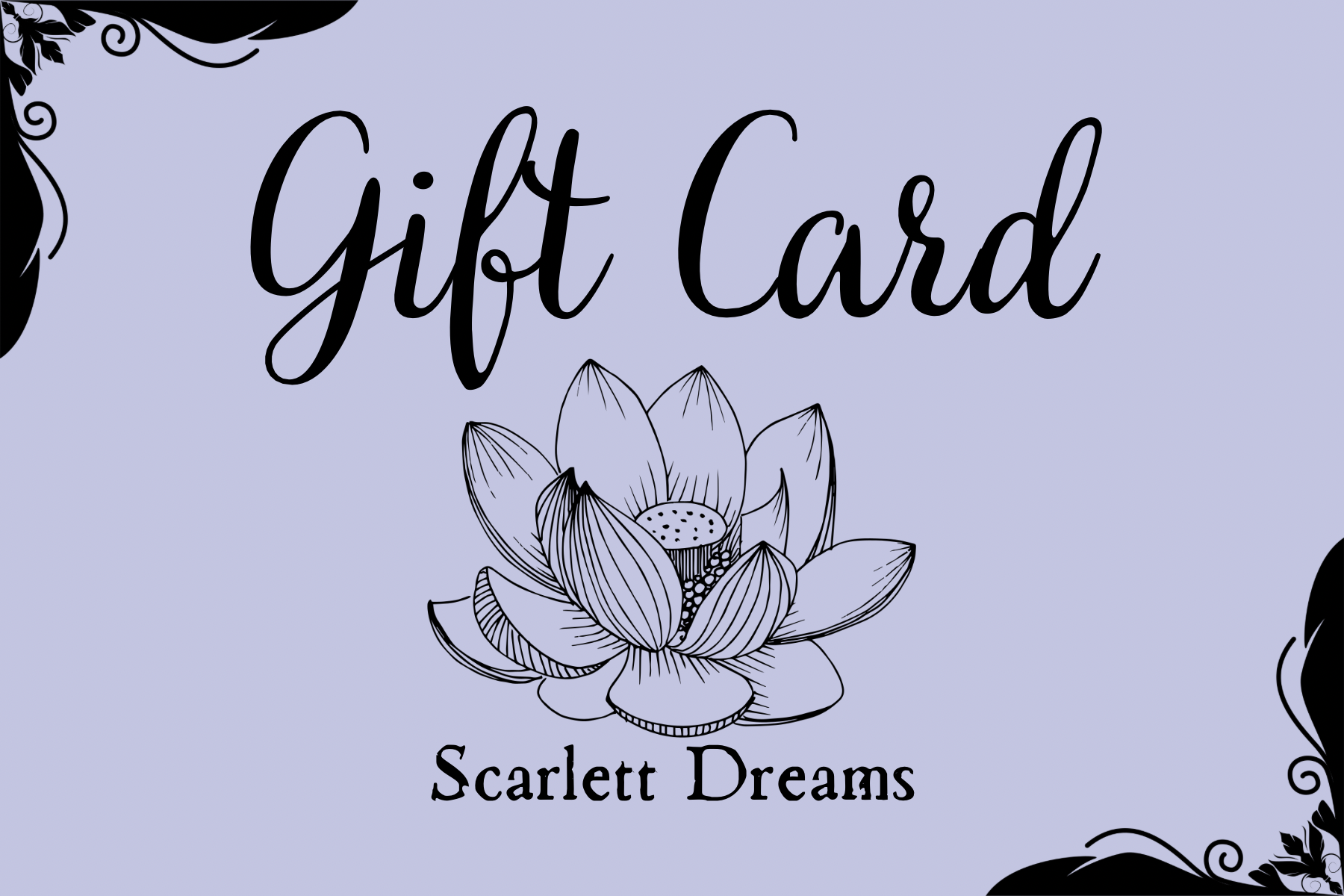 GIFT CARD- Scarlett Dreams Shop