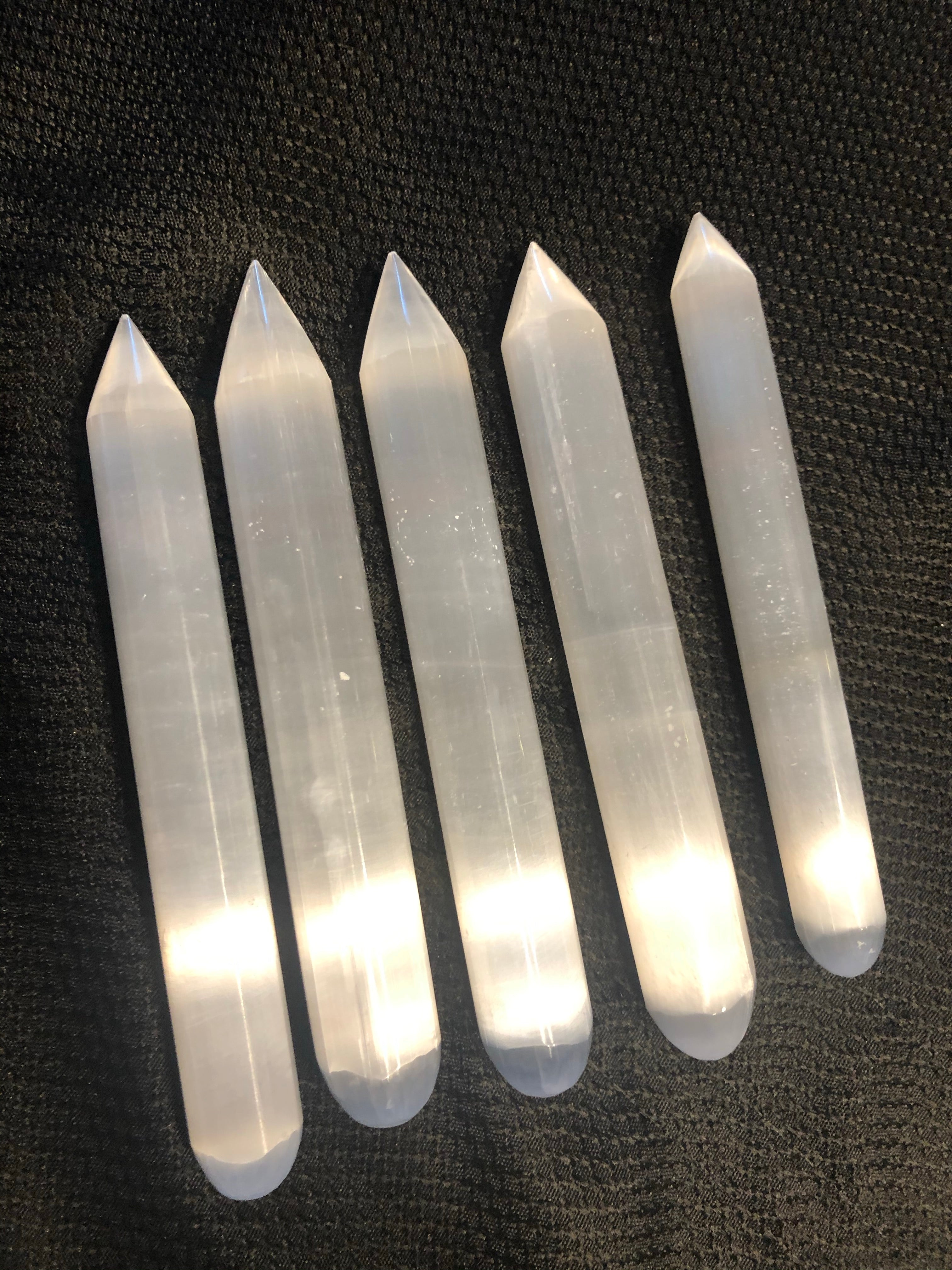 Selenite Point Wands