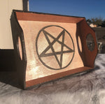 Load image into Gallery viewer, Altar Pentagram Tray- Rose Gold