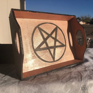 Altar Pentagram Tray- Rose Gold