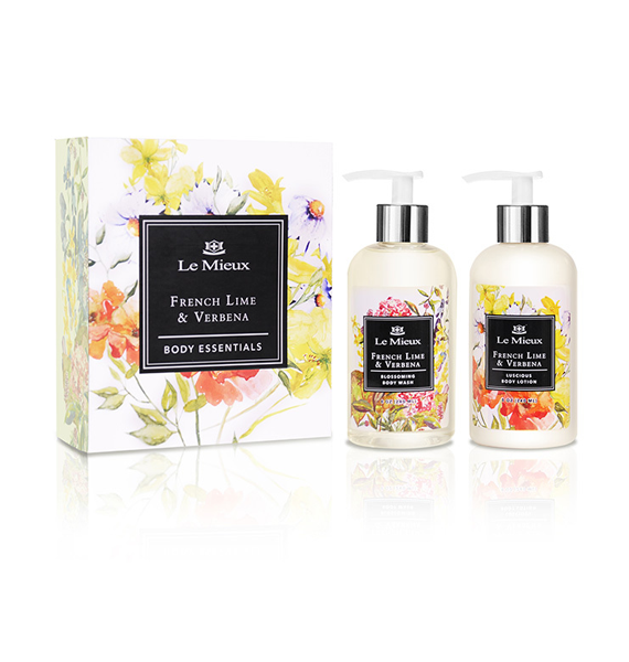 Le Mieux French Lime and Verbena Body Essentials Set