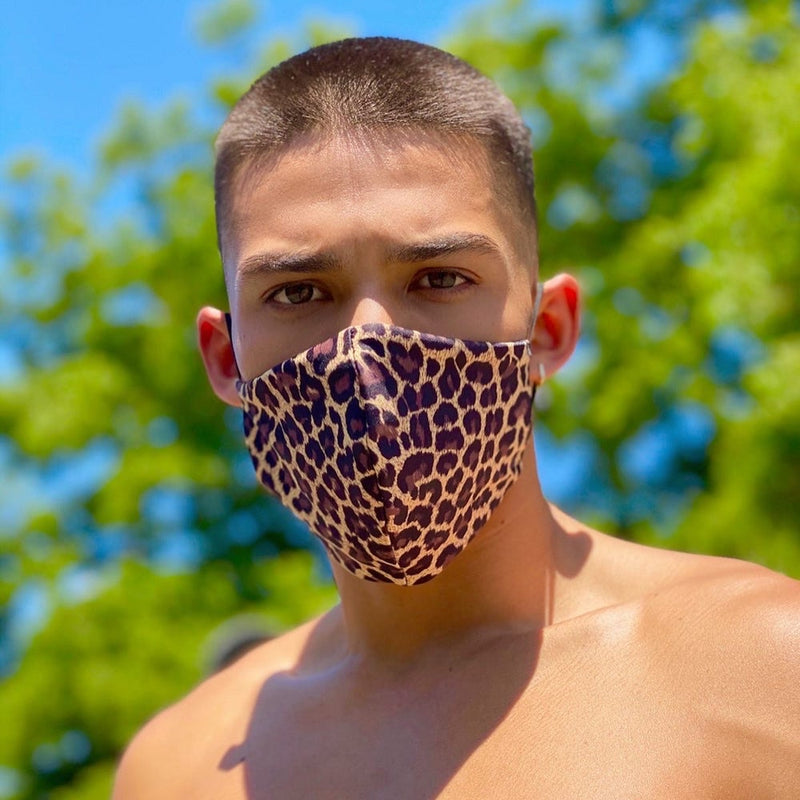 LEOPARD-FACE MASK