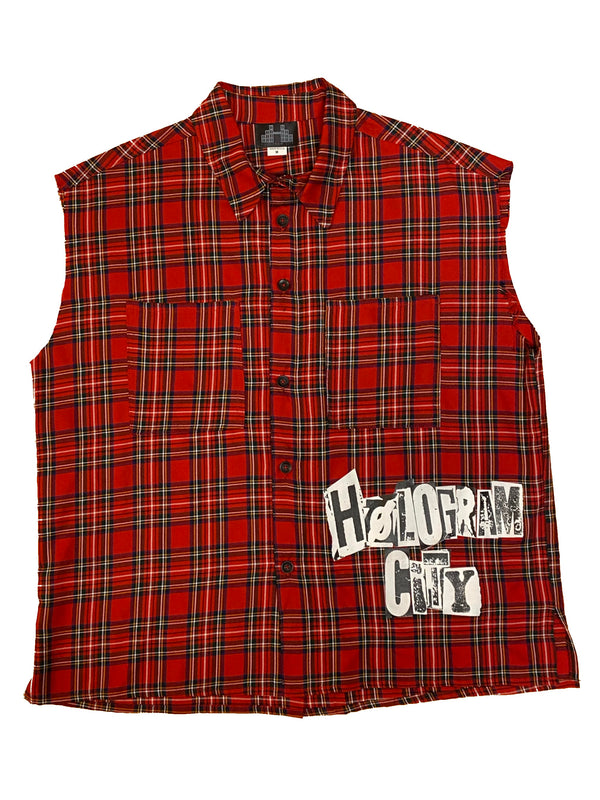 RAW PUNK SHIRT-RED