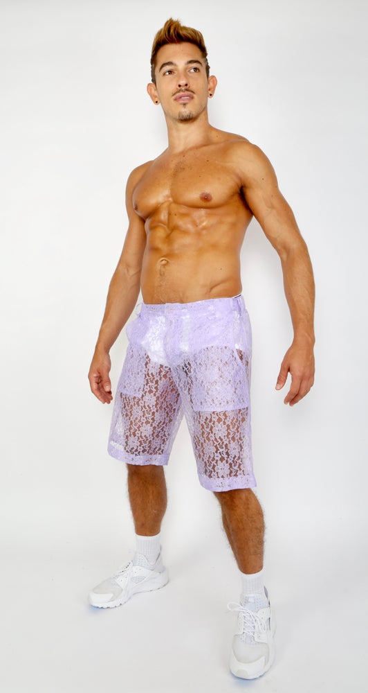 LACE ME UP SHORTS-PURPLE