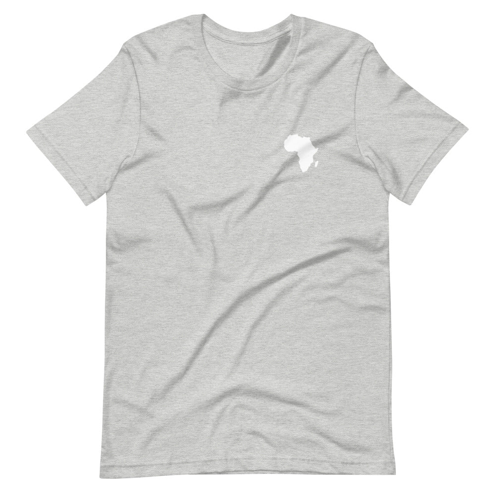AFRICA - Home Is Where The Heart Is - Short-Sleeve Unisex T-Shirt (Light Grey)