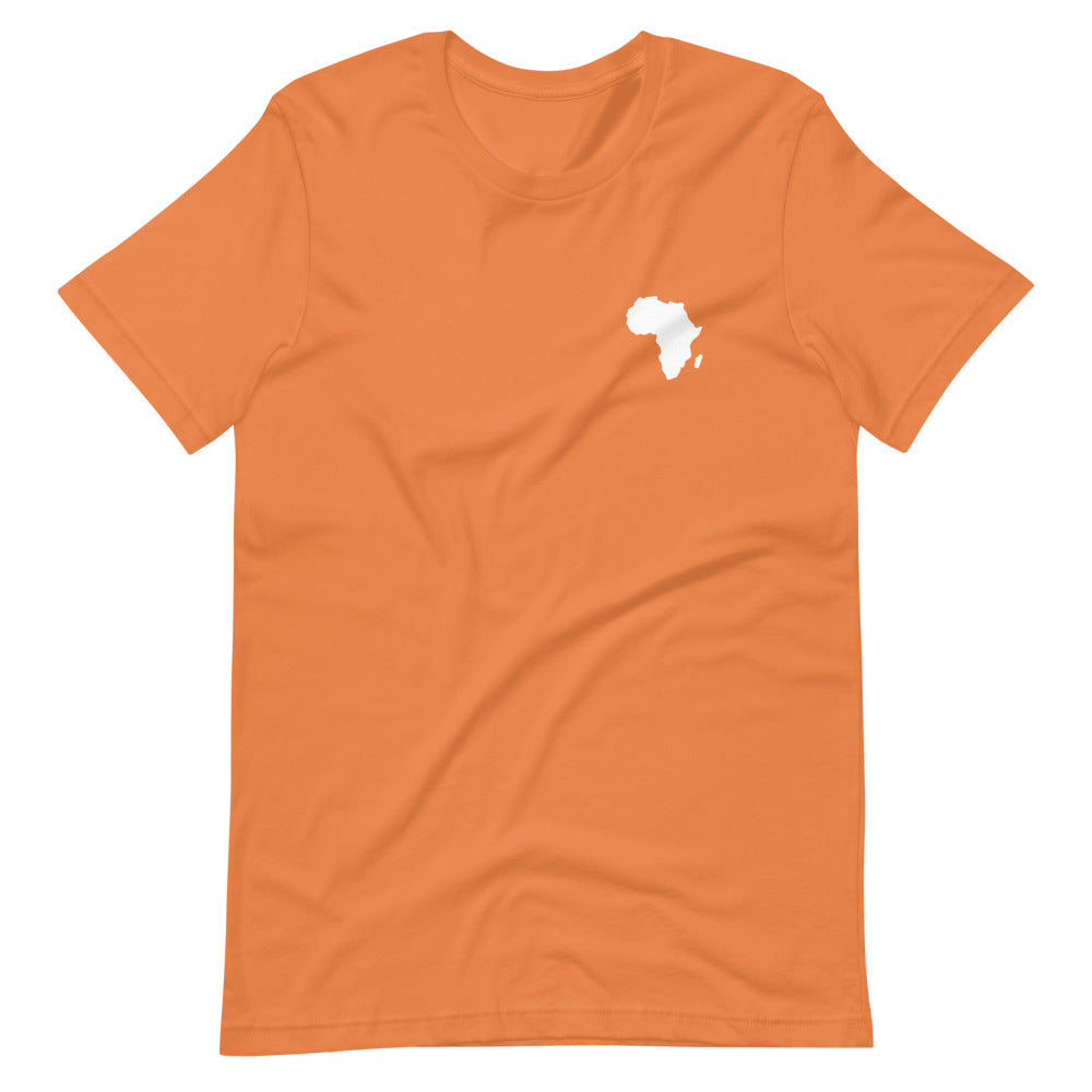 AFRICA - Home Is Where The Heart Is - Short-Sleeve Unisex T-Shirt (Orange)