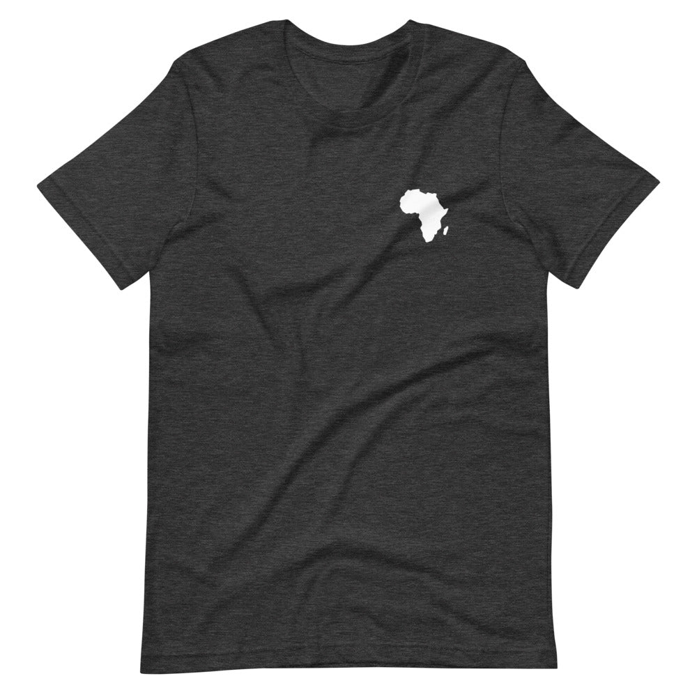 AFRICA - Home Is Where The Heart Is - Short-Sleeve Unisex T-Shirt (Dark Grey)