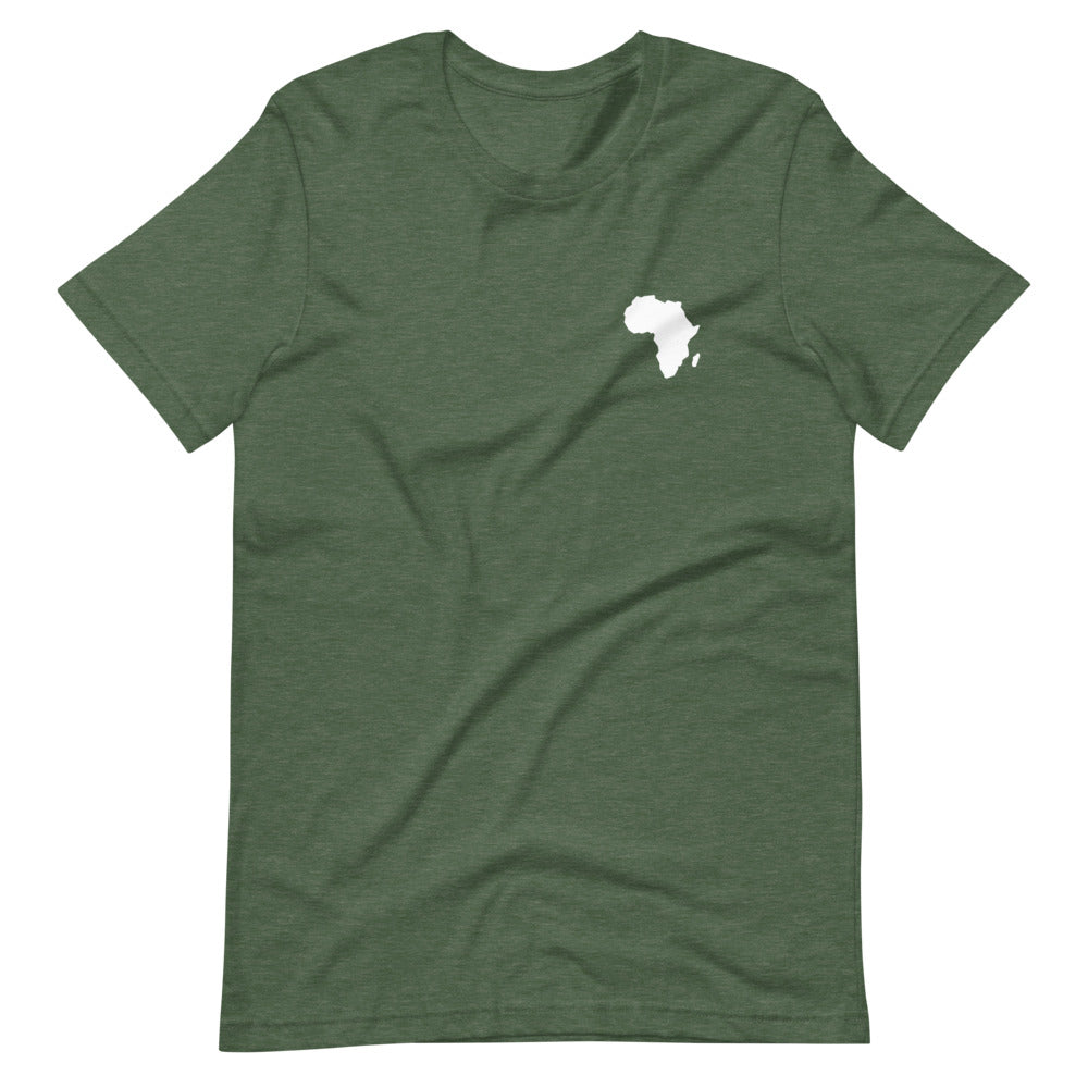 AFRICA - Home Is Where The Heart Is - Short-Sleeve Unisex T-Shirt (Heather Green)
