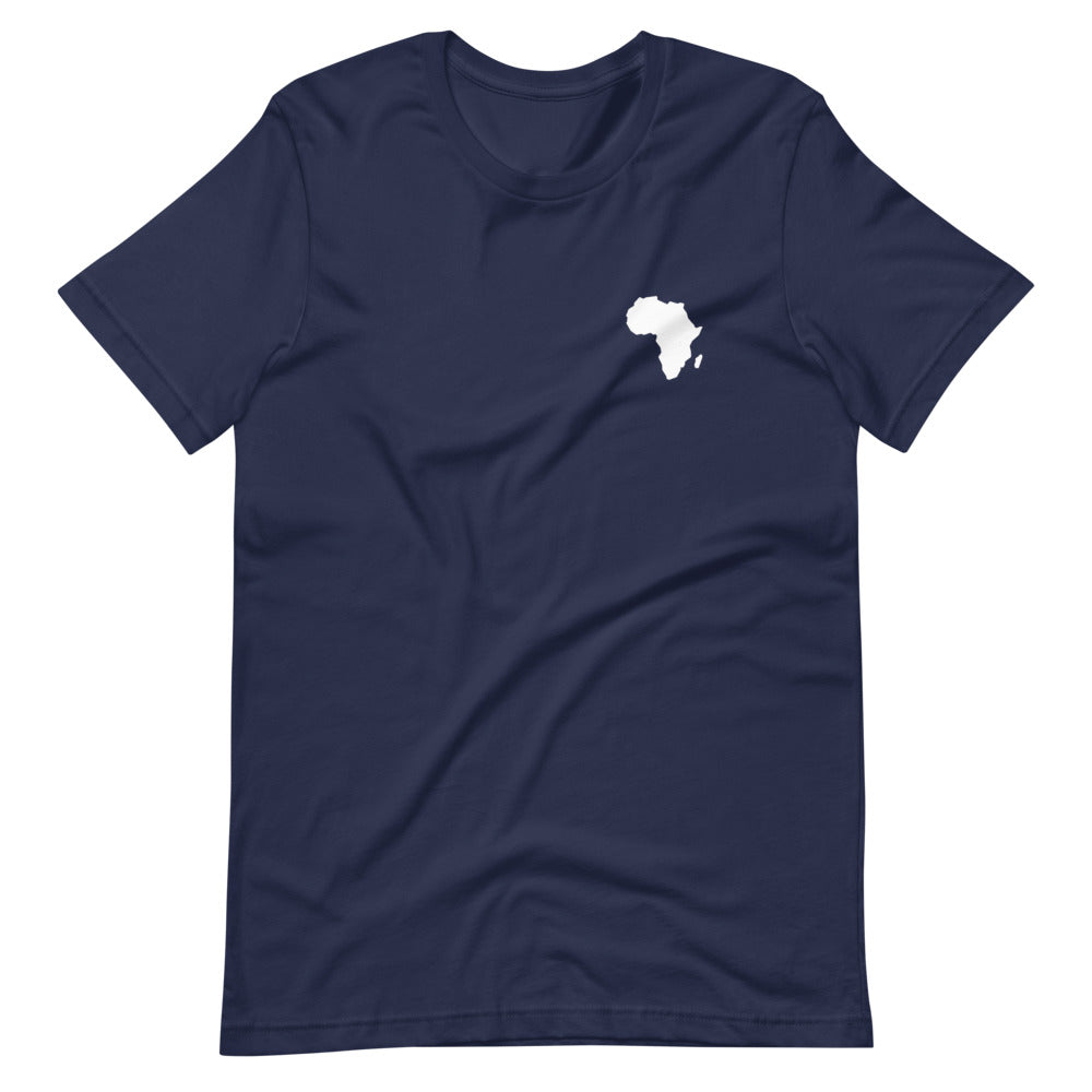 AFRICA - Home Is Where The Heart Is - Short-Sleeve Unisex T-Shirt (Navy)