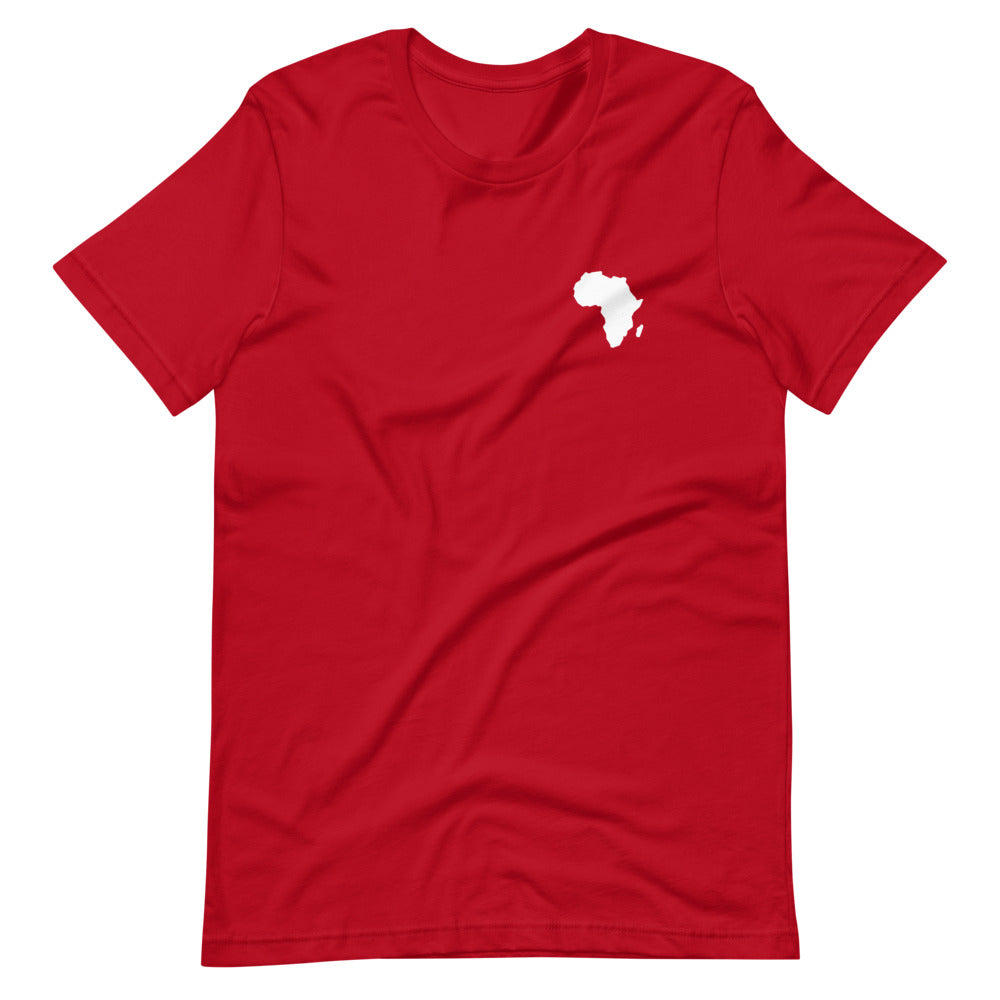 AFRICA - Home Is Where The Heart Is - Short-Sleeve Unisex T-Shirt (Red)