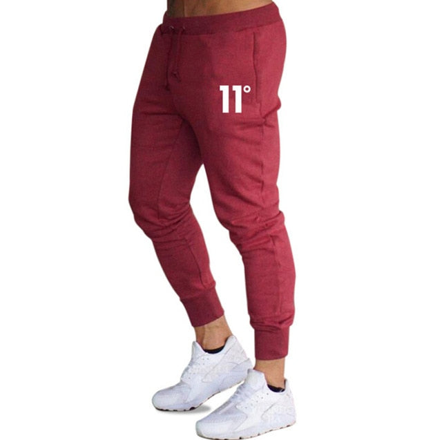 Hot sale solid casual Mens Casual Slim Fit Tracksuit Sports Solid Male Gym Cotton Skinny Joggers Sweat Casual Pants Trousers