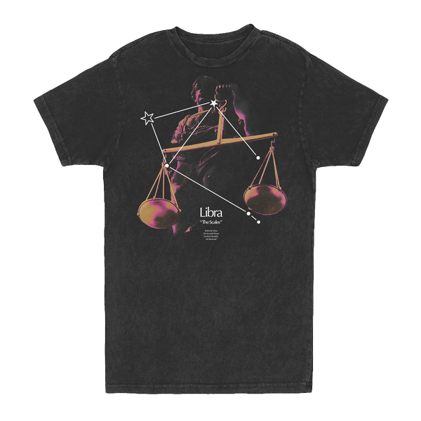 Libra Constellation Vintage Tee