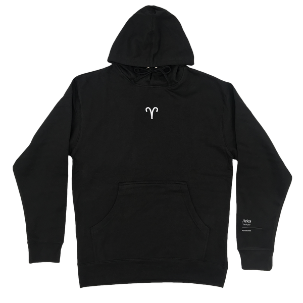 Aries Embroidered Hoodie