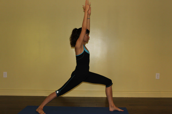 Yoga Poses For Fall: Warrior I -- Virabhadrasana I