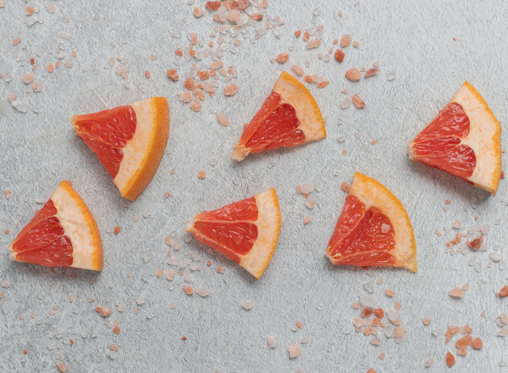 grapefruit pieces