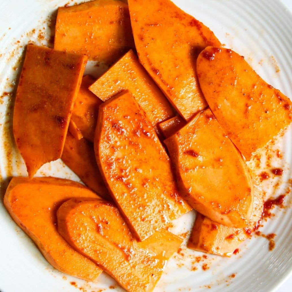 Grilled Sweet Potatoes with Cashew Lime Crema