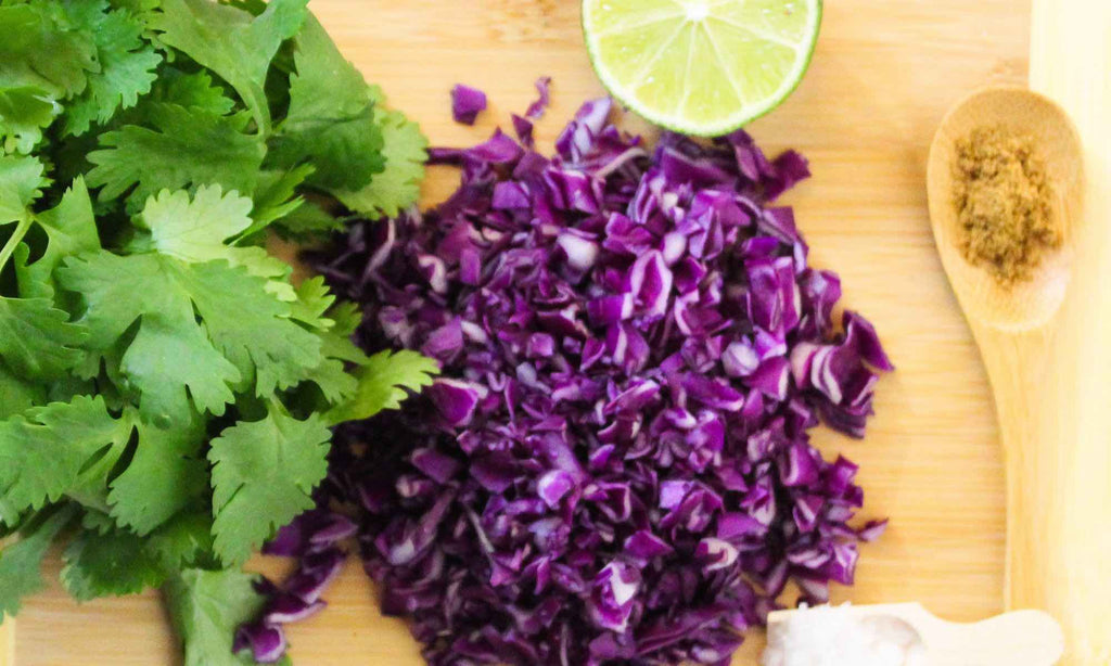 Red Cabbage, Celery, and Cilantro Salad