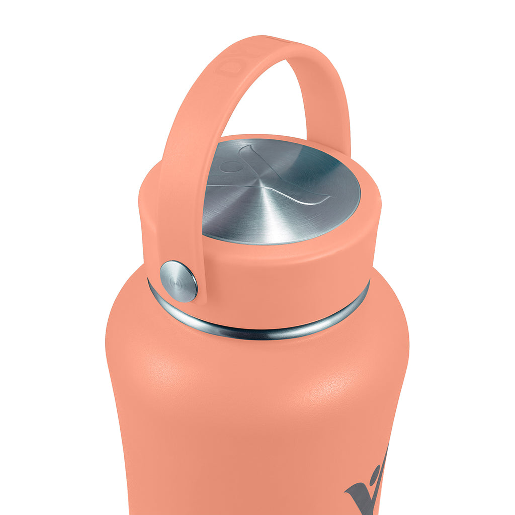 40 oz Insulated DYLN Bottle, color: Living Coral
