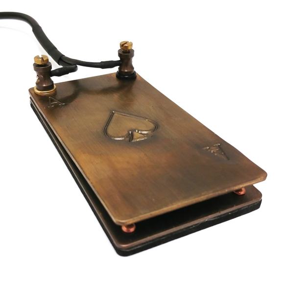 BRASS ACE OF SPADES FOOT PEDAL