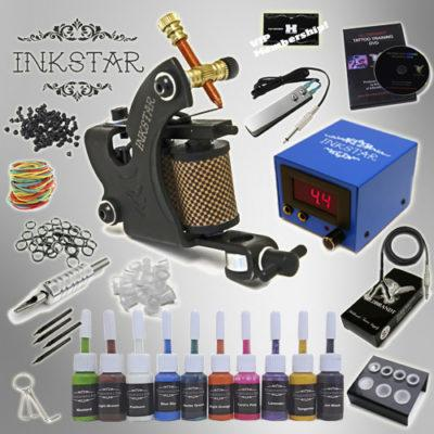 Tattoo Starter Kit with 10 True Color Ink set