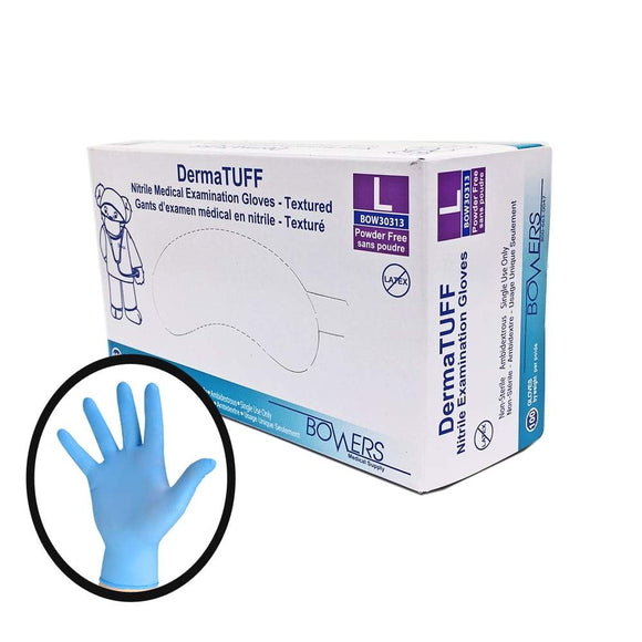 Dermatuff Blue Nitrile Gloves