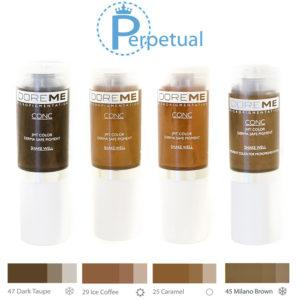 Doreme Pigment Concentrate Light Brown Set