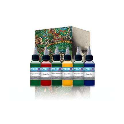 Intenze Tattoo Ink, Dragon Series 6 Color Set 1oz