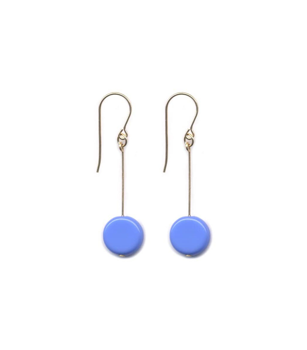 Irk Jewelry I. Ronni Kappos E1129 Periwinkle Circle Drop Earrings