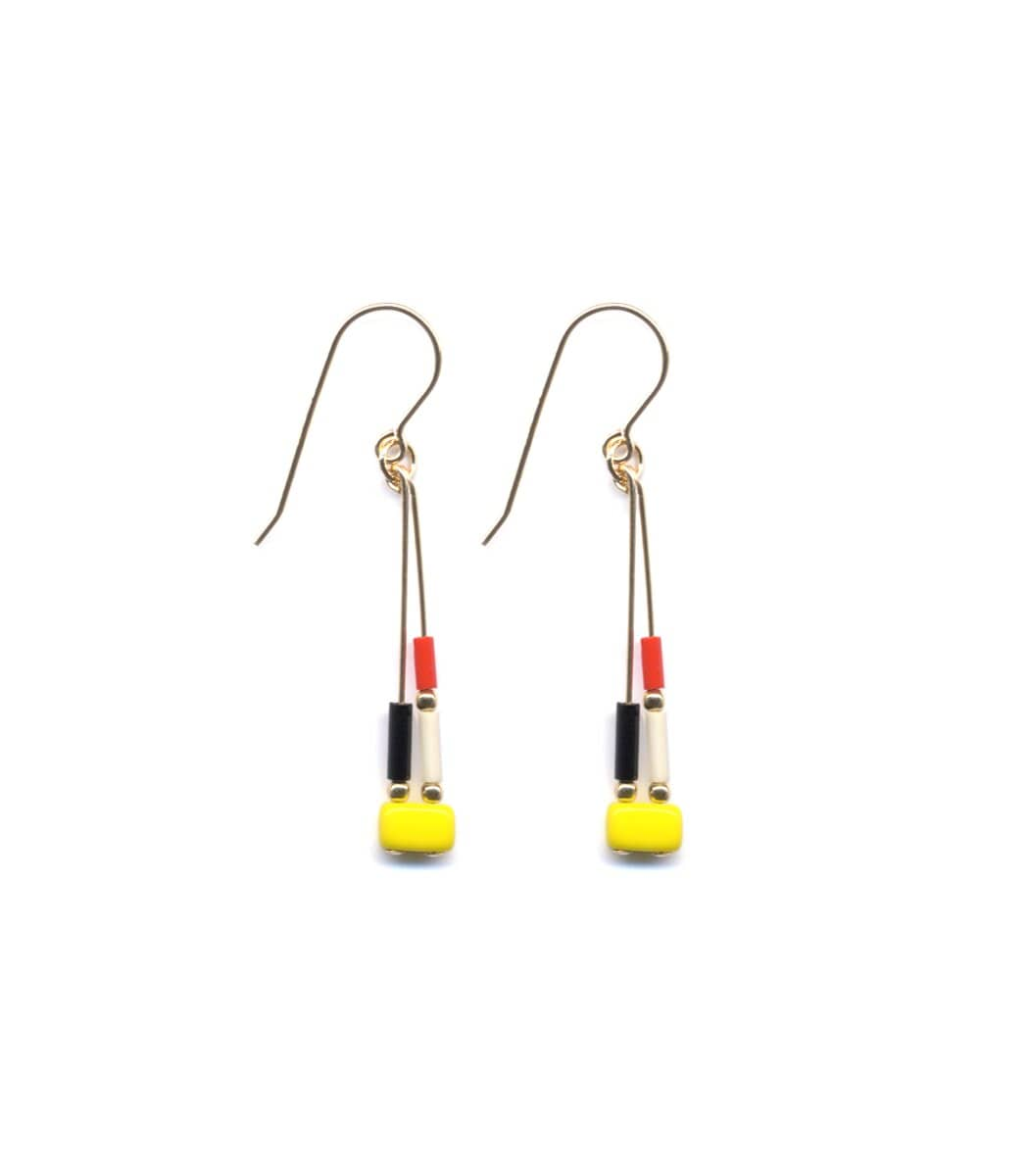 Irk Jewelry I. Ronni Kappos E1441 Yellow Mosaic Earrings
