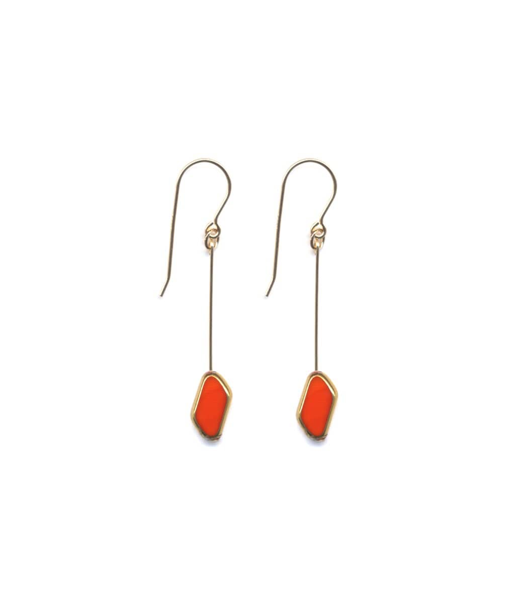 Irk Jewelry I. Ronni Kappos E1469 Red Rhombus Earrings