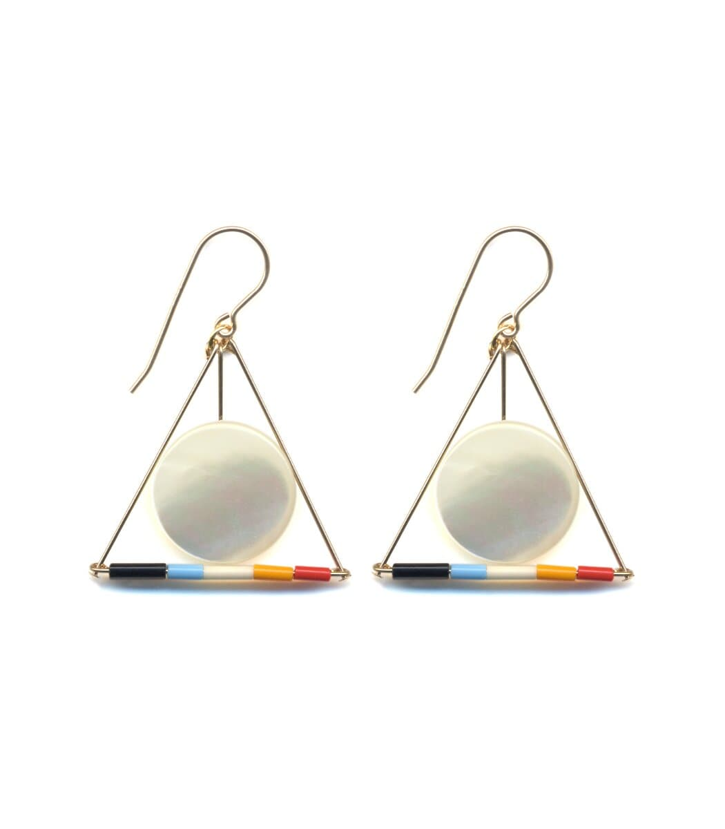 Irk Jewelry I. Ronni Kappos E1637 Hilma Triangle Drop Earrings