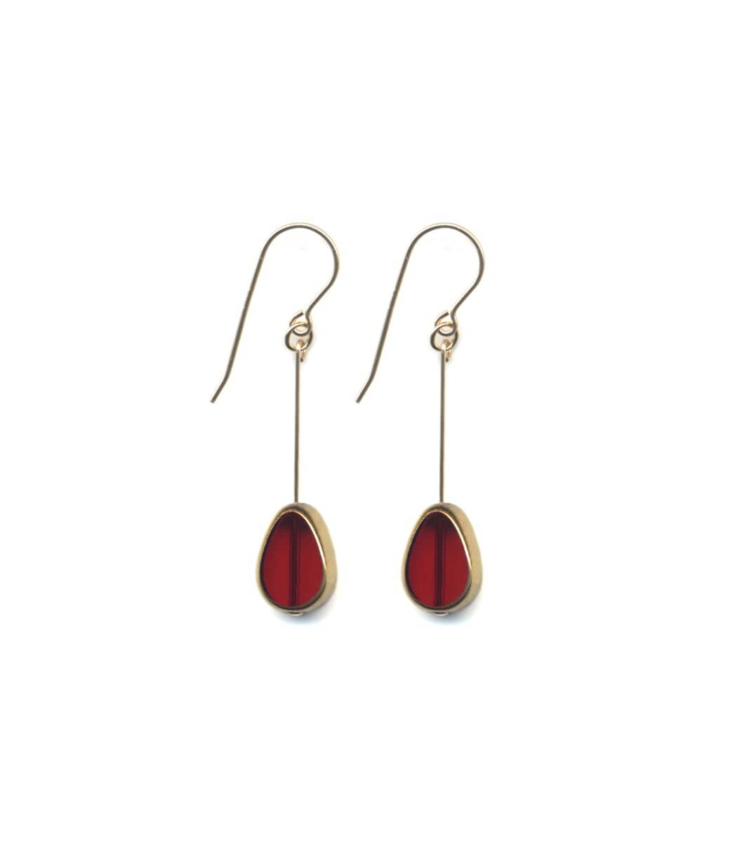 Irk Jewelry I. Ronni Kappos E1672 Ruby Petal Drop Earrings