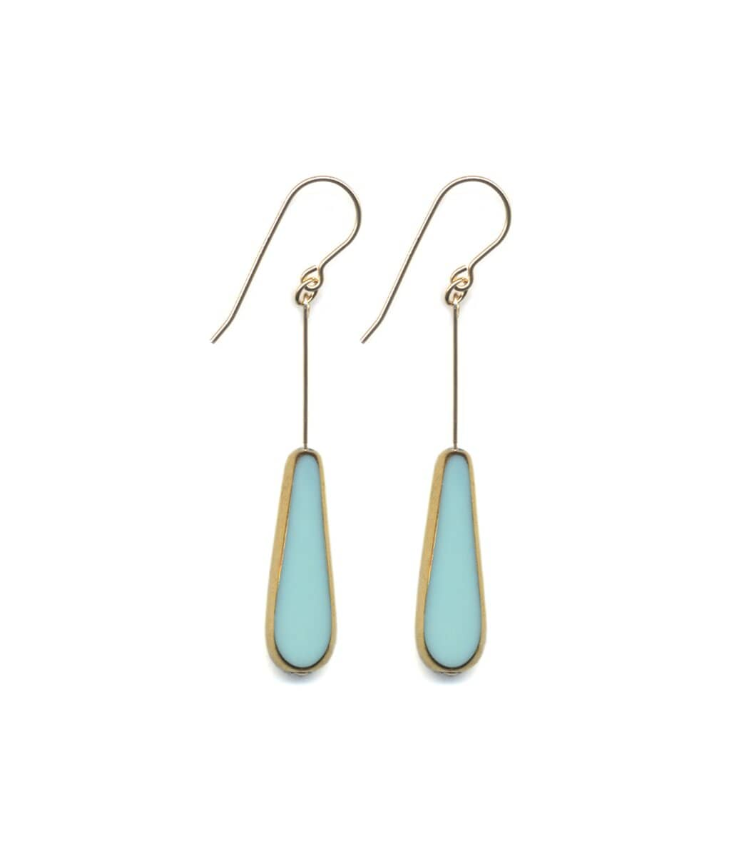 Irk Jewelry I. Ronni Kappos E1676 Aqua Tear Earrings