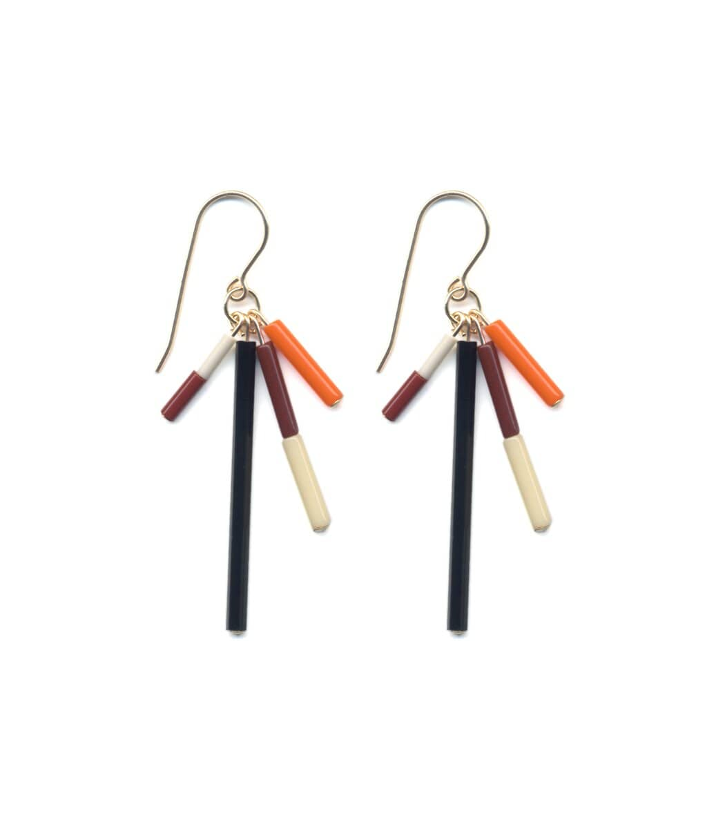 Irk Jewelry I. Ronni Kappos E1678 Fall Bar Burst Earrings