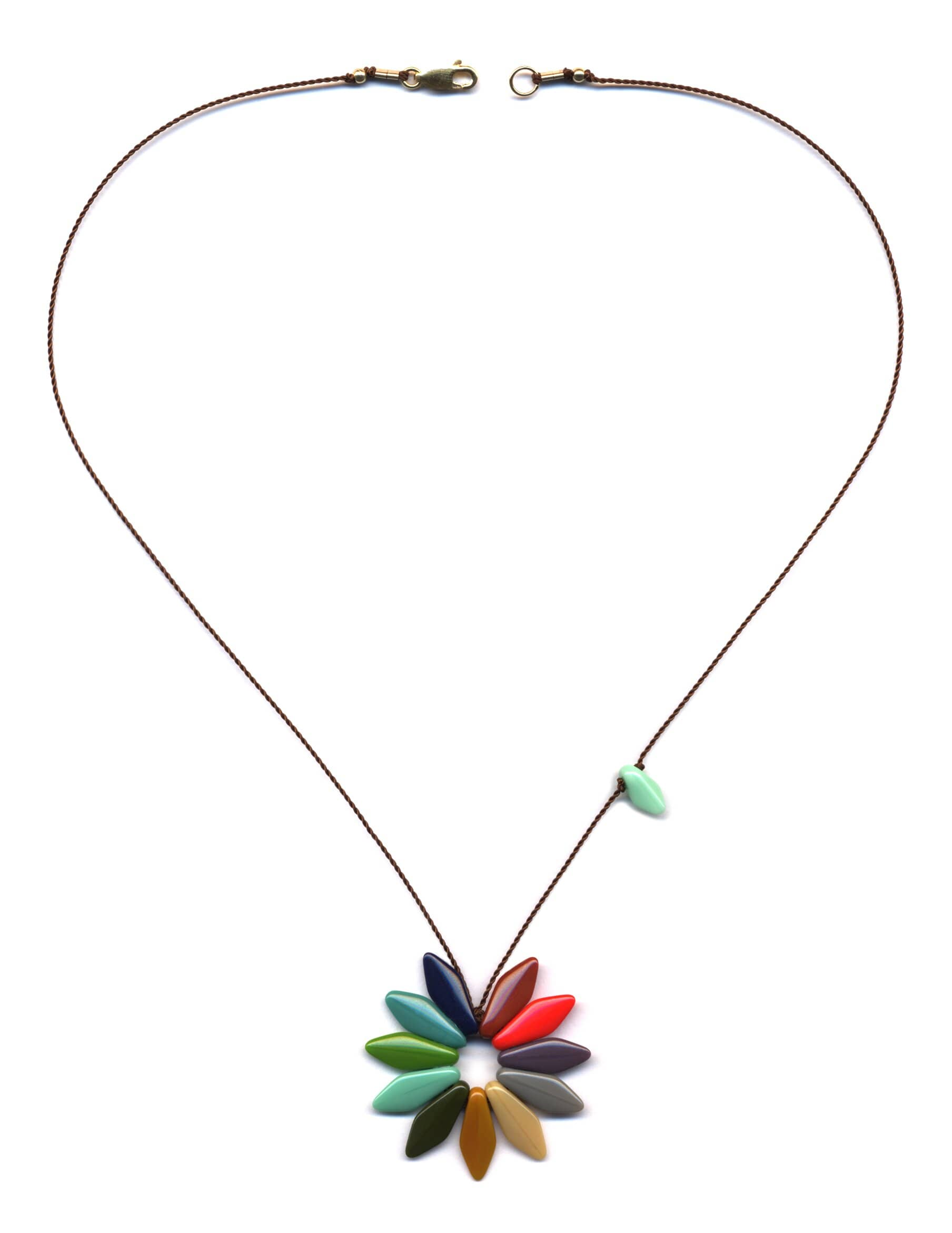 N1309 Rainbow Flower Necklace