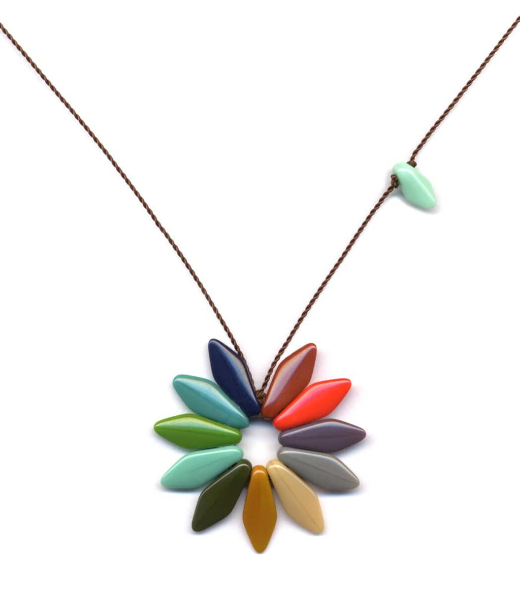 Irk Jewelry I. Ronni Kappos N1309 Rainbow Flower Necklace