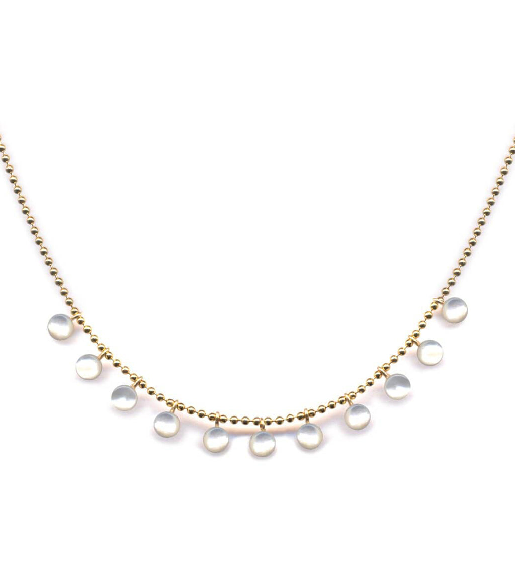 Irk Jewelry I. Ronni Kappos N1363 Mini Mother-of-Pearl Necklace