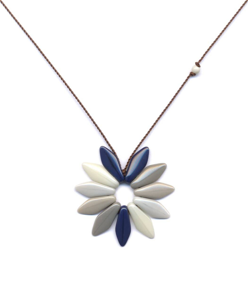 Irk Jewelry I. Ronni Kappos N1555 Shadow Flower Necklace