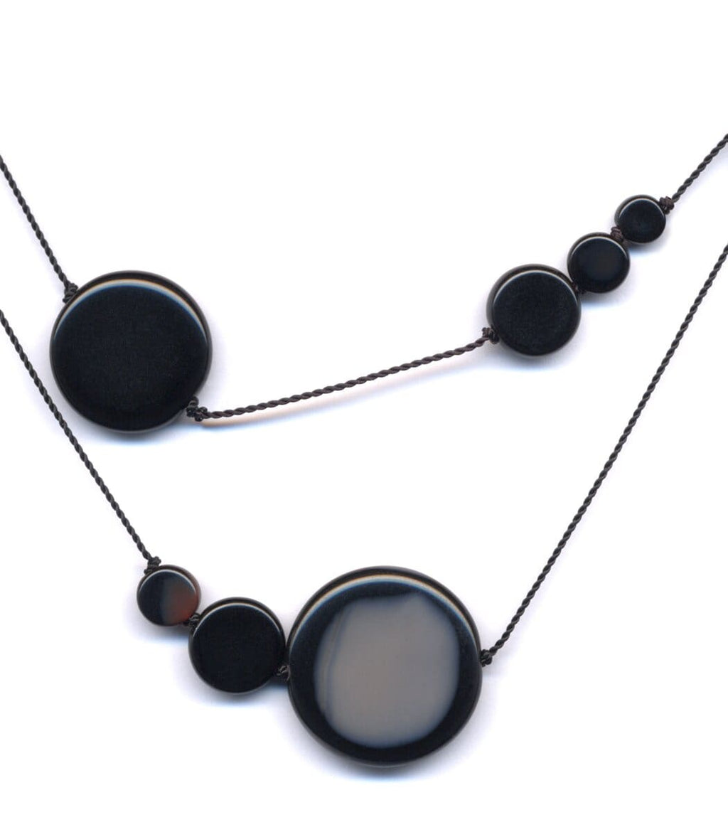 Irk Jewelry I. Ronni Kappos N1615 Black Solar Necklace