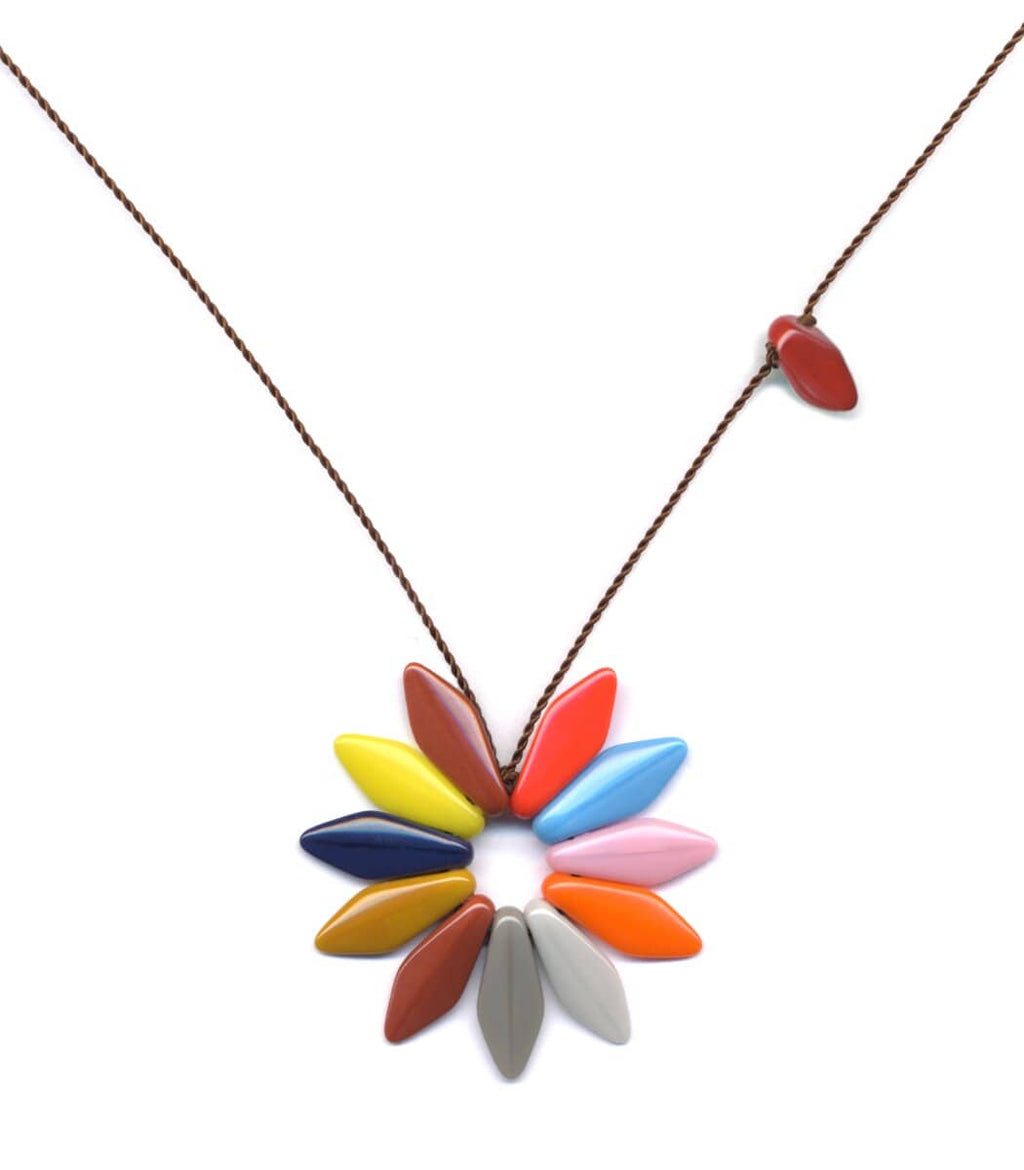Irk Jewelry I. Ronni Kappos N1689 Bright Spring Flower Necklace