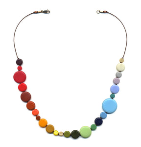 N1837 Rainbow Dots Necklace