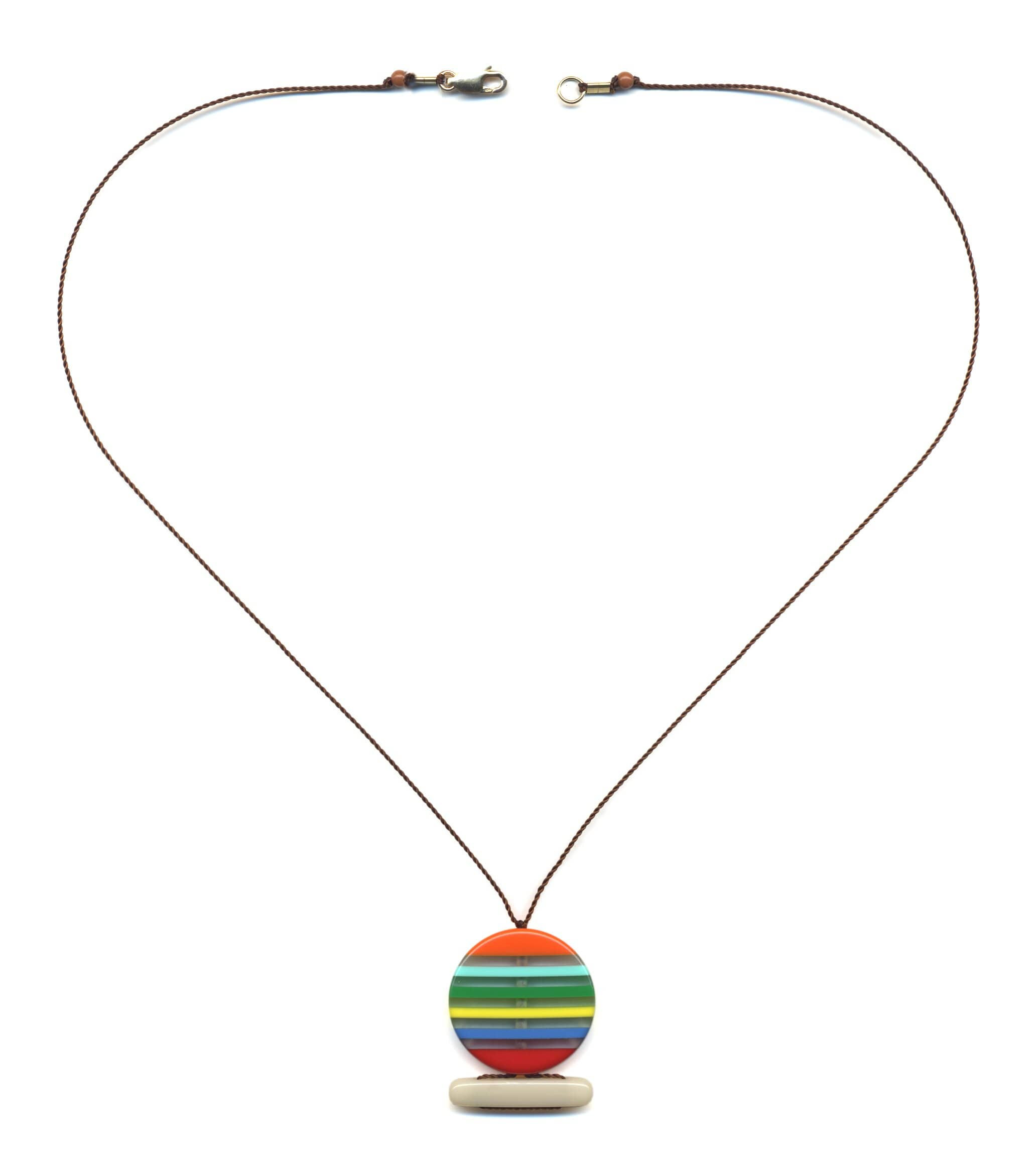N1852 Sunset Pendant Necklace