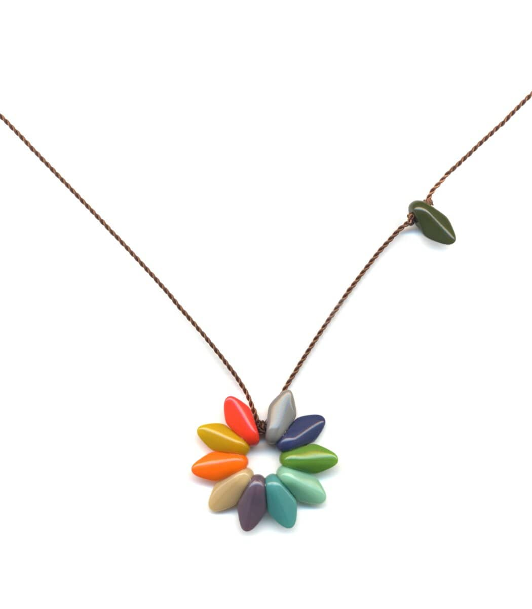 Irk Jewelry I. Ronni Kappos N1876 Small Rainbow Flower Necklace