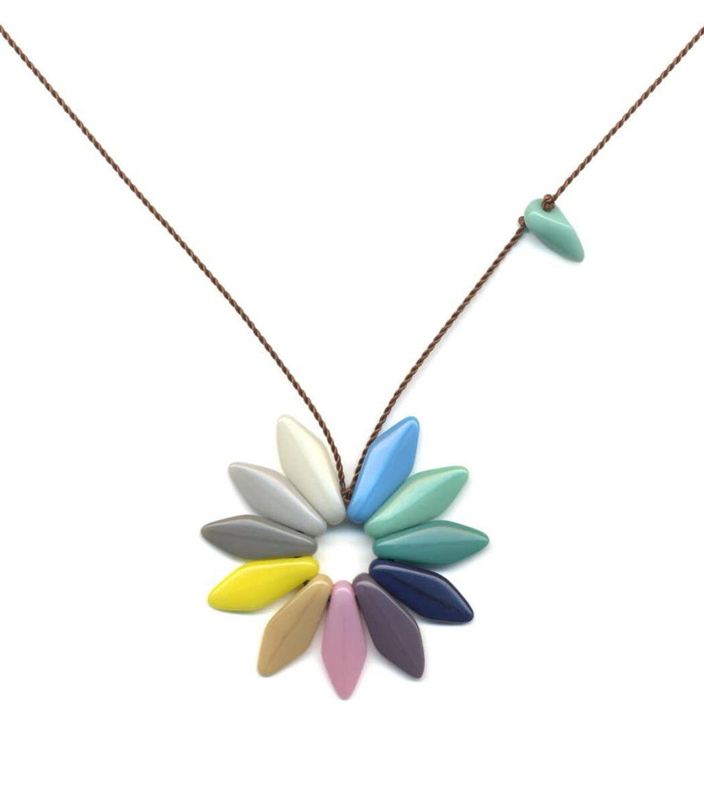 Irk Jewelry I. Ronni Kappos N1884 Pastel Flower Necklace