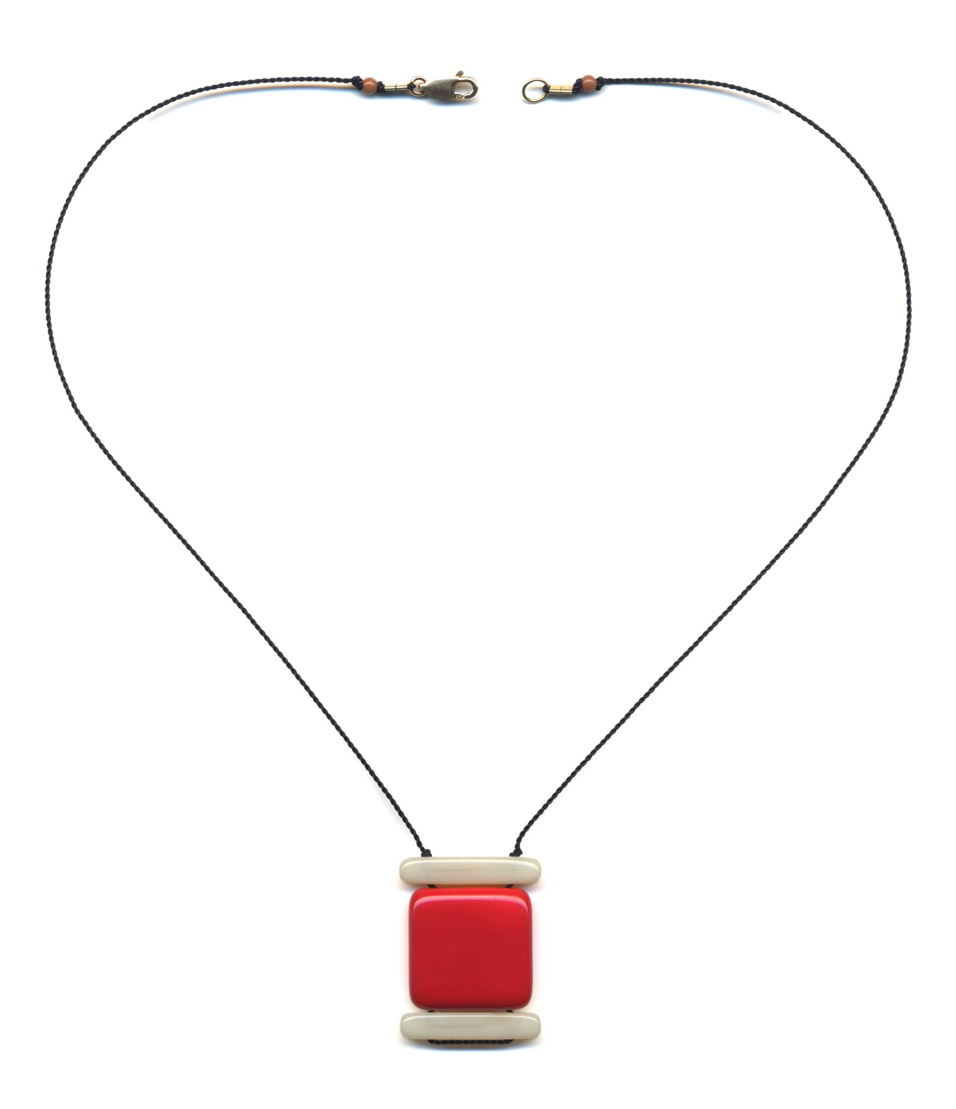 N1887 Red Layer Necklace